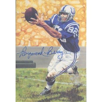 Raymond Berry Autographed Goal Line Art Card JSA #KK52370 (Reed Buy)