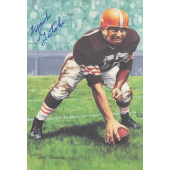Frank Gatski Autographed Goal Line Art Card JSA #KK52371 (Reed Buy)