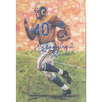 "Elroy ""Crazylegs"" Hirsch Autographed Goal Line Art Card JSA #KK52372 (Reed Buy)"