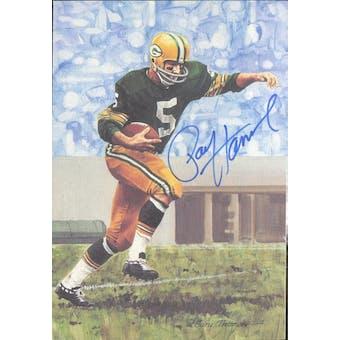 Paul Hornung Autographed Goal Line Art Card JSA #KK52373 (Reed Buy)