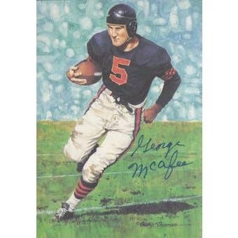 George McAfee Autographed Goal Line Art Card JSA #KK52376 (Reed Buy)