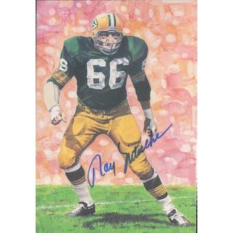 Ray Nitschke Autographed Goal Line Art Card JSA #KK52377 (Reed Buy)