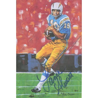 Lance Alworth Autographed Goal Line Art Card JSA #KK52381 (Reed Buy)