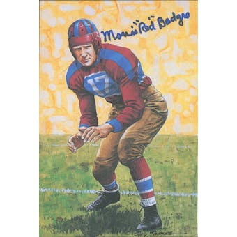 "Morris ""Red"" Badgro Autographed Goal Line Art Card JSA #KK52382 (Reed Buy)"