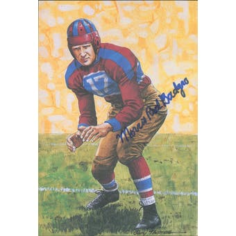 "Morris ""Red"" Badgro Autographed Goal Line Art Card JSA #KK52385 (Reed Buy)"