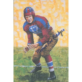 "Morris ""Red"" Badgro Autographed Goal Line Art Card JSA #KK52386 (Reed Buy)"