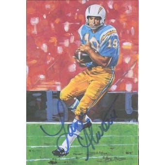Lance Alworth Autographed Goal Line Art Card JSA #KK52395 (Reed Buy)