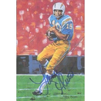 Lance Alworth Autographed Goal Line Art Card JSA #KK52396 (Reed Buy)