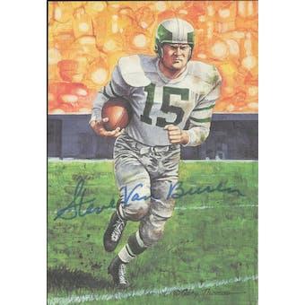 Steve Van Buren Autographed Goal Line Art Card JSA #KK52398 (Reed Buy)