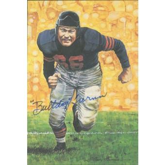 "Clyde ""Bulldog"" Turner Autographed Goal Line Art Card JSA #KK52400 (Reed Buy)"