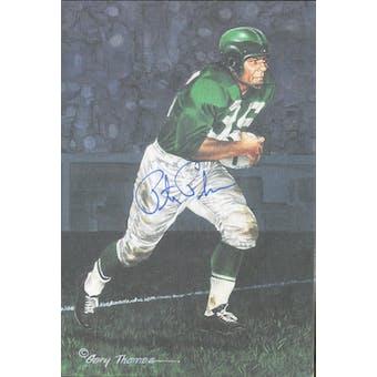 Pete Pihos Autographed Goal Line Art Card JSA #KK52405 (Reed Buy)