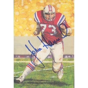 John Hannah Autographed Goal Line Art Card JSA #KK52411 (Reed Buy)