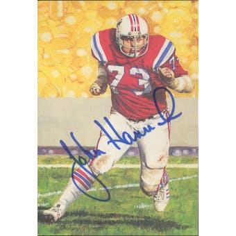 John Hannah Autographed Goal Line Art Card JSA #KK52412 (Reed Buy)