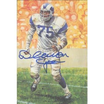 Deacon Jones Autographed Goal Line Art Card JSA #KK52414 (Reed Buy)