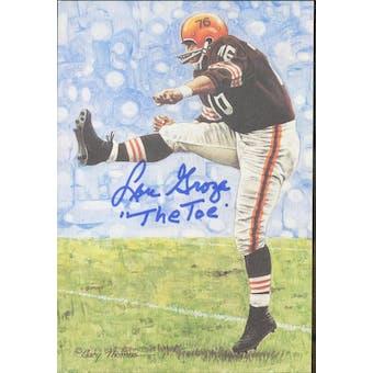 """Lou Groza Autographed Goal Line Art Card w/ insc """"The Toe"""" JSA #KK52417 (Reed Buy)"""