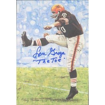 """Lou Groza Autographed Goal Line Art Card w/ insc """"The Toe"""" JSA #KK52418 (Reed Buy)"""
