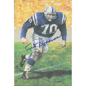 Art Donovan Autographed Goal Line Art Card JSA #KK52420 (Reed Buy)