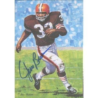 Jim Brown Autographed Goal Line Art Card JSA #KK52423 (Reed Buy)
