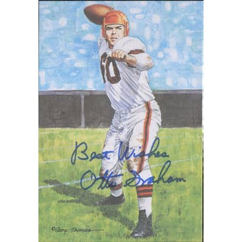 "Otto Graham Autographed Goal Line Art Card w/ insc ""Best Wishes"" JSA #KK52430 (Reed Buy)"