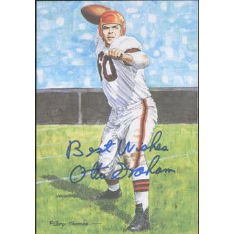 "Otto Graham Autographed Goal Line Art Card w/ insc ""Best Wishes"" JSA #KK52432 (Reed Buy)"