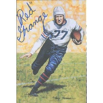 """Harold """"Red"""" Grange Autographed Goal Line Art Card JSA #KK52434 (Reed Buy)"""
