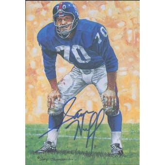 Sam Huff Autographed Goal Line Art Card JSA #KK52436 (Reed Buy)
