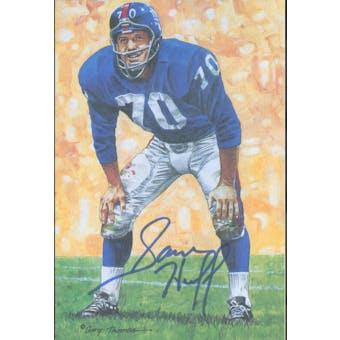 Sam Huff Autographed Goal Line Art Card JSA #KK52437 (Reed Buy)