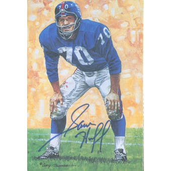 Sam Huff Autographed Goal Line Art Card JSA #KK52438 (Reed Buy)