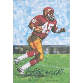 Bobby Mitchell Autographed Goal Line Art Card JSA #KK52440 (Reed Buy)