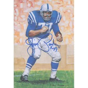 Jim Parker Autographed Goal Line Art Card JSA #KK52442 (Reed Buy)