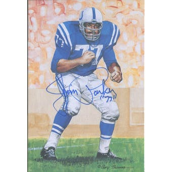 Jim Parker Autographed Goal Line Art Card JSA #KK52443 (Reed Buy)