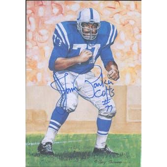 Jim Parker Autographed Goal Line Art Card JSA #KK52444 (Reed Buy)