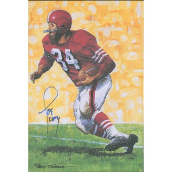 Joe Perry Autographed Goal Line Art Card JSA #KK52445 (Reed Buy)