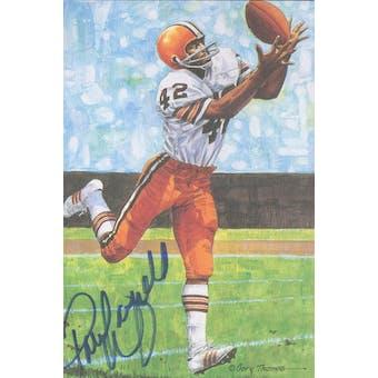 Paul Warfield Autographed Goal Line Art Card JSA #KK52449 (Reed Buy)