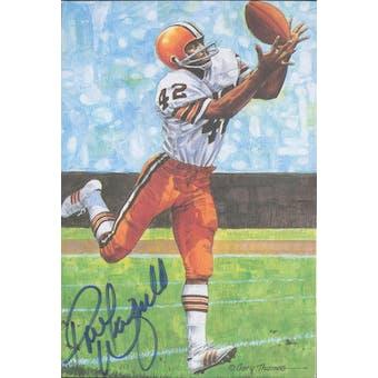 Paul Warfield Autographed Goal Line Art Card JSA #KK52450 (Reed Buy)