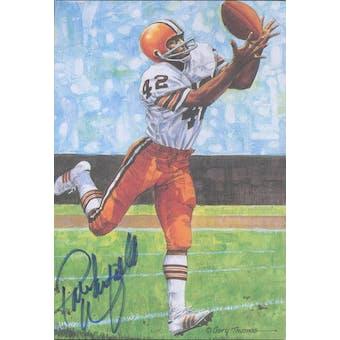 Paul Warfield Autographed Goal Line Art Card JSA #KK52451 (Reed Buy)