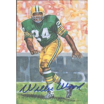 Willie Wood Autographed Goal Line Art Card JSA #KK52452 (Reed Buy)