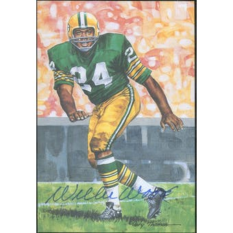 Willie Wood Autographed Goal Line Art Card JSA #KK52454 (Reed Buy)