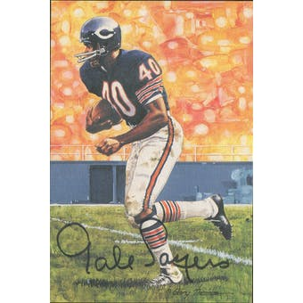 Gale Sayers Autographed Goal Line Art Card JSA #KK52455 (Reed Buy)