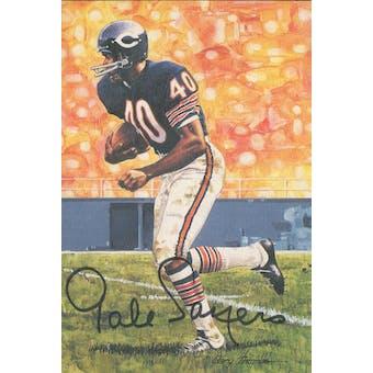 Gale Sayers Autographed Goal Line Art Card JSA #KK52456 (Reed Buy)