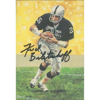 Fred Biletnikoff Autographed Goal Line Art Card JSA #KK52460 (Reed Buy)