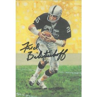 Fred Biletnikoff Autographed Goal Line Art Card JSA #KK52461 (Reed Buy)