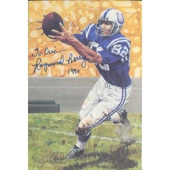 Raymond Berry Autographed Goal Line Art Card JSA #KK52464 (Personalized) (Reed Buy)
