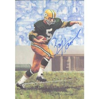 Paul Hornung Autographed Goal Line Art Card JSA #KK52467 (Reed Buy)