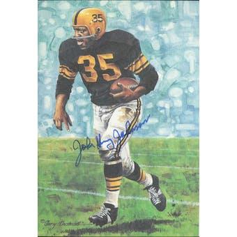 John Henry Johnson Autographed Goal Line Art Card JSA #KK52468 (Reed Buy)