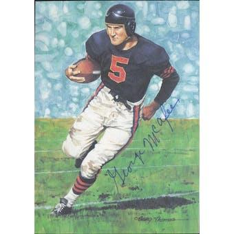 George McAfee Autographed Goal Line Art Card JSA #KK52470 (Reed Buy)