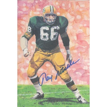 Ray Nitschke Autographed Goal Line Art Card JSA #KK52471 (Reed Buy)