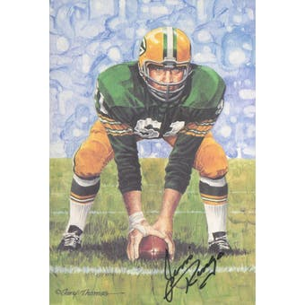 Jim Ringo Autographed Goal Line Art Card JSA #KK52472 (Reed Buy)