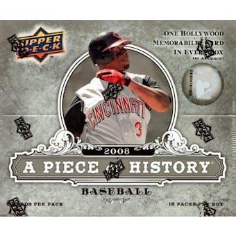 2008 Upper Deck Piece Of History Baseball Hobby Box