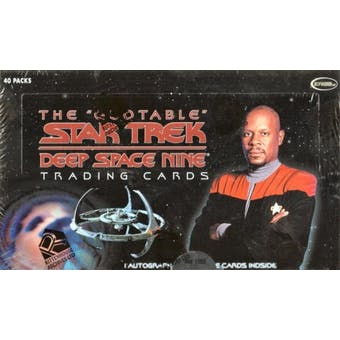 Star Trek The Quotable Deep Space Nine Trading Cards Box (Rittenhouse 2007)